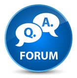 Forum (question answer bubble icon) elegant blue round button. Forum (question answer bubble icon) isolated on elegant blue round button abstract illustration Royalty Free Stock Photo