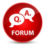 Forum (question answer bubble icon) elegant red round button Royalty Free Stock Photo