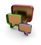 Forum quotation symbol made in 3D Stock Images