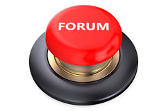 Forum Red button Royalty Free Stock Images