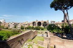 Forum romain, Rome, Italie images libres de droits