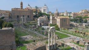 Forum romain, Rome, Italie banque de vidéos