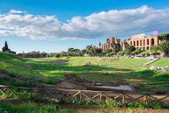 Forum - Roman ruins in Rome, Italy Royalty Free Stock Photography