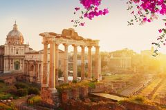 Forum - Roman ruins in Rome, Italy stock image