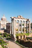 Forum - Roman ruins in Rome, Italy Stock Photography