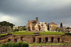 Forum roman view from Colosseo,  Rome, Italy Royalty Free Stock Photo