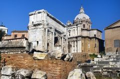 The Forum Romano Royalty Free Stock Photos