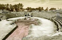 Forum romano di Emerita Augusta Immagine Stock Libera da Diritti
