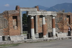 Forum romano di Pompei Fotografie Stock