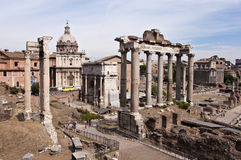 Forum Romanum. Rome, Italy. The forum romanum Stock Images