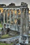 Forum Romanum. Remaining buildings of the Forum Romanum Royalty Free Stock Photo