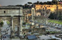 Forum Romanum. Remaining buildings of the Forum Romanum Royalty Free Stock Photos