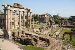 Forum Romanum. In Rome Italy Royalty Free Stock Images