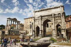 Forum Romanum. The Forum Romanum in Rome, Italy Stock Photo