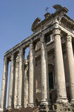 Forum Romanum. View of the ancient Forum Romanum in Rom in Italy Royalty Free Stock Photo