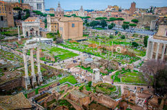 Forum Romanum from above. Old Stock Image