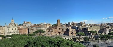 Roman Forum. Ancient monuments in Rome, Italy Royalty Free Stock Photos