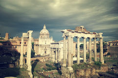 Forum Romanum. Ancient ruins, Rome Italy Royalty Free Stock Image