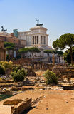 Forum Romanum and Capitol. The ancient Forum Romanum and Capitol in Italy Stock Photo