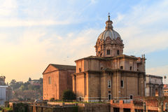 Forum Romanum Church Royalty Free Stock Photo