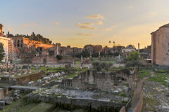 Forum Romanum at Dusk Royalty Free Stock Photography