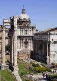 Forum romanum-I-Rome-Italië Stock Afbeeldingen
