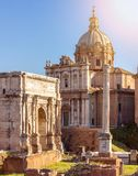 Forum Romanum in Italy. Rome Royalty Free Stock Images