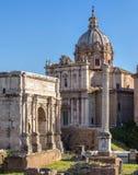 Forum Romanum in Italy Stock Images