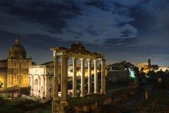 Forum Romanum at night Royalty Free Stock Image