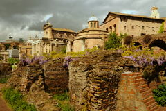 Forum Romanum. Oldest town square in Rome Royalty Free Stock Photography