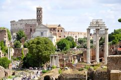 Roman Forum. Forum Romanum: Overview from Palatine Hill facing South Stock Photography