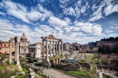 Forum Romanum panorama royalty free stock photos