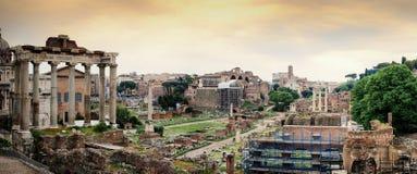Forum Romanum. Panorama of Forum Romanum in Rome, Italy Stock Images
