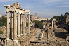 Forum romanum - Rom Lizenzfreies Stockfoto