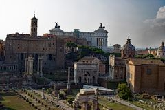 Forum Romanum Rom Italien stockbild