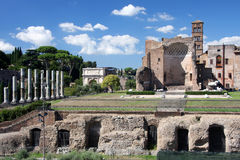 Forum Romanum, Rom, Italien Lizenzfreies Stockfoto
