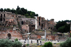 Forum Romanum. The Roman Forum,: Forum Romanum,  with its  ruins of several important ancient government buildings at the center of the city of Rome. It is Stock Photo