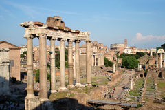 Forum Romanum. Roman ruins at the Forum Romanum in Rome, Italy Royalty Free Stock Images