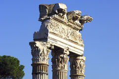 Forum Romanum Rome. Ancient columns with corinthian capital Forum Romanum Rome Italy Royalty Free Stock Photos