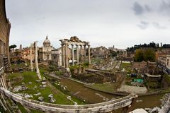 Forum Romanum in Rome De reis van Itali? royalty-vrije stock afbeelding