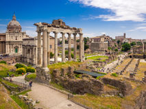 Forum Romanum. In Rome, Italy Royalty Free Stock Photos