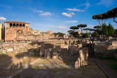 Forum Romanum. In Rome, Italy Stock Image