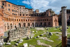 Forum Romanum in Rome in Italy. Ancient Forum Romanum in Rome in Italy at sunny weather royalty free stock photography