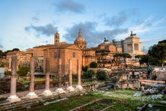 The Forum Romanum in Rome, Italy Royalty Free Stock Image
