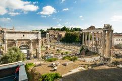 The Forum Romanum Rome, Italy. Roman ruins in Rome, Forum Romanum, Italy Stock Images