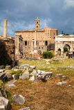 Forum Romanum in Rome, Italy, During a Summer Day Royalty Free Stock Photography