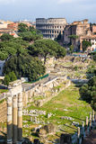 The Forum Romanum in Rome Royalty Free Stock Photo