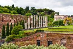 Forum romanum in Rome. Ruins on ancient forum romanum in Rome, Italy Royalty Free Stock Image