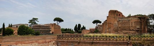 Forum Romanum in Rome Royalty Free Stock Photos
