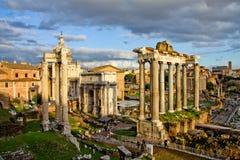 forum romanum Rome septimius severus Obraz Royalty Free